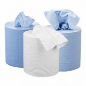 Jangro White 2Ply Centrefeed Roll
