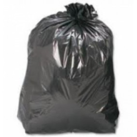 "18"" Heavy Duty Black Sacks 200/case"