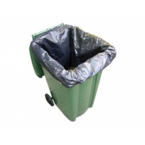 Wheelie Bin Liner - Black 100/case