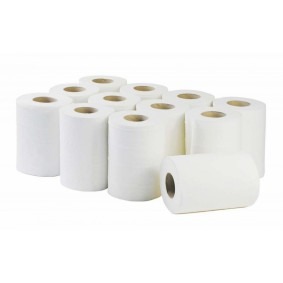 White 2 Ply Mini Centrefeed Rolls