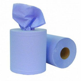 Coreless C-Feed Roll 1ply Blue