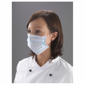 Face Mask with Loops - Blue